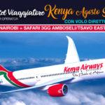 KE830 KENYA Agosto Safari e Mare con Volo DIRETTO Kenya Airways Roma/Nairobi A/R